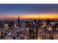 1 return flight ticket London - New York 22.NOV - 06.DEC