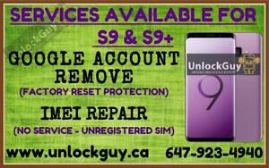 SAMSUNG GALAXY S9 & S9+ GOOGLE ACCOUNT REMOVE | NETWORK UNLOCK