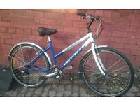 Fully serviced ladies giant hybrid bike