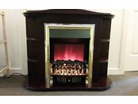 Cherry mahogany electric fireplace