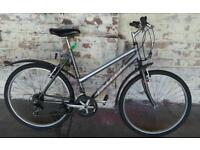 Ladies hybrid bike silver falcon
