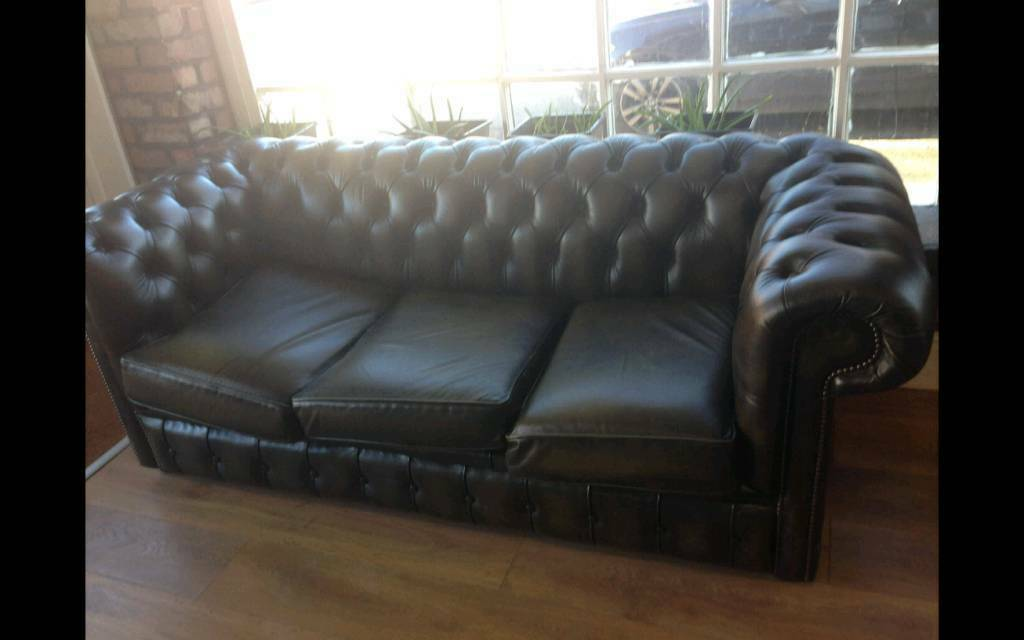 Dark Green Chesterfield Sofa And Club Chair For Sale In Hale Manchester Gumtree