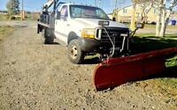 1993 F350 4x4 with plow and boom