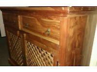sideboard solid real wood