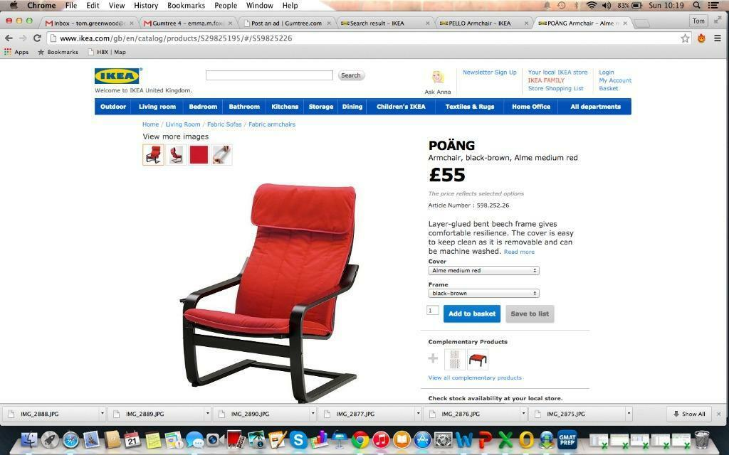 Lampe Ikea Recharge Telephone ~ POANG ikea armchair MUST GO good condition  in Angel, London