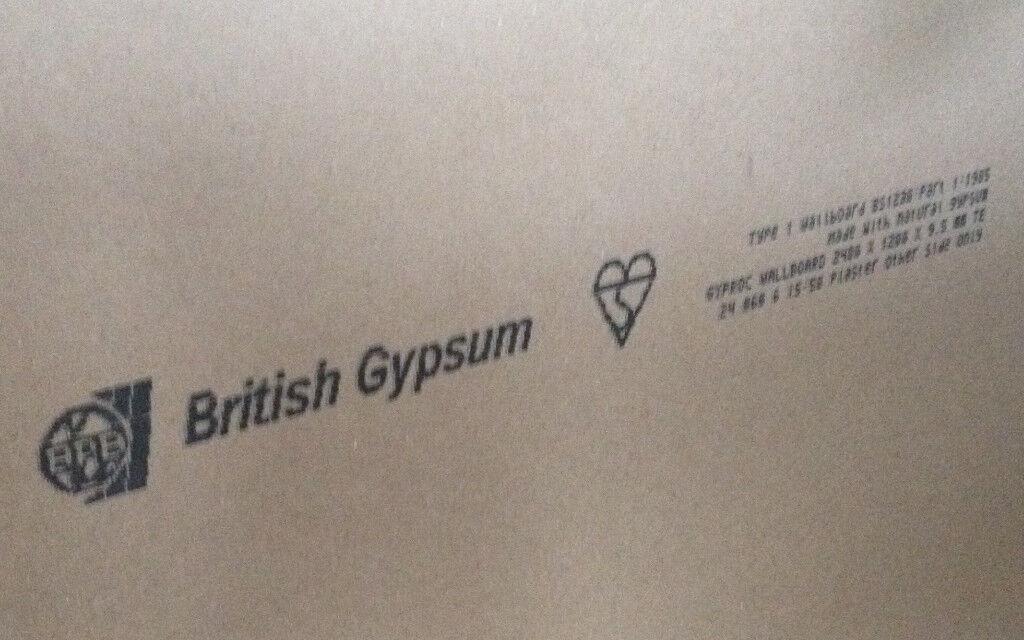 plasterboard british gypsum 4 boards job lot 14 ono