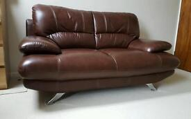 Harveys Brown Leather Sofa Couch