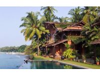 1 return flight ticket, London- Vasco da Gama, Goa, India, 24 Dec- 8 Jan