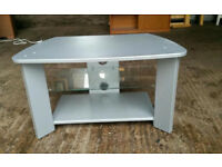 Grey TV Unit with Glass Shelf
