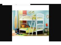 White bunk/ 2 singe bed