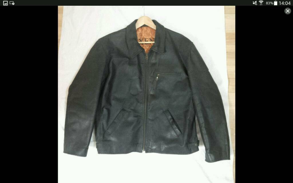 Mens Leather Jacket Waxed New