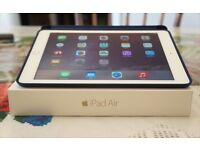 iPad Air 2 Gold 16gb Wifi (Apple Warranty until April 2017) & Midnight Blue Real Leather Case