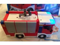 Playmobil 4821 City Action Fire Engine. Boxed with accessories. Lights up.