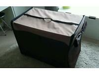 Dog / cat carrier LARGE, portable indoor / outdoor cat / dog home, pet car carrier, crate