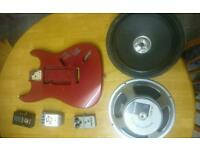 Guitar pedals, speakers and body