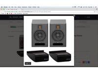 Adam F5 Nearfield Studio Monitors £378 Desktop Stands Mint & Boxed in Warranty