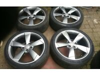 "GENUINE 18"" AUDI ROTOR ALLOY WHEELS IN DEMAND 5 X 112 AUDI A3 S3 VW GOLF VAG FIT"