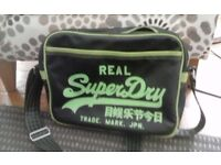 Black & Green Super Dry bag
