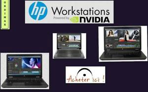 "**HP 8770W 17 ""Laptop Workstation Professional et Gaming Intel QuadCore i7, Vdeo Nvidia Quadro,16 Mo Ram,DD:500 GB"