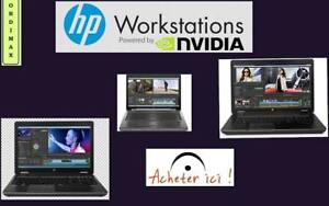 "**HP 8770W 17 ""Laptop Workstation Professional et Gaming Intel QuadCore i7, Vdeo Nvidia Quadro,  8 Mo Ram,DD:500 GB"