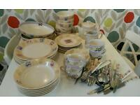 M&S set of crockery and cutlery