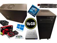 POWERFUL CORE i5 GTX 970 16GB SSD GAMING DESKTOP PC WORKSTATION