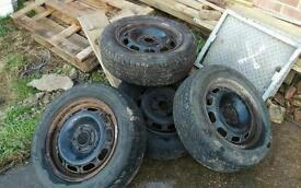 Genuine Volvo 240 steel wheel with very good tyres 195 60 15