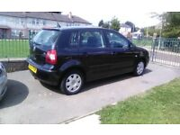 VW POLO 1.2 PETROL, 2005 PLATE, 5 DOOR, IN BLACK, BARGAIN AT £595