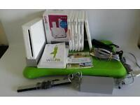 Nintendo Wii Bundle, Console/Leads/Wii Fit Board/Games/Controller + Nunchuk & Docking Station.