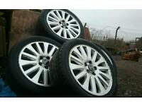 "Genuine Volvo S80 17"" Alloy Wheels with good tyres 225/45/17 91W fits V70"