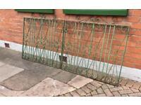 Wrought iron garden gates.