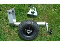 HEAVY DUTY JOCKEY WHEEL & CLAMP PNEUMATIC TYRE TRAILER/CARAVAN
