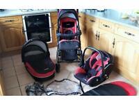 Recaro travel system. Car seat. Buggy. Carrycot