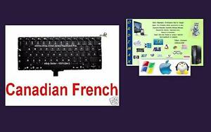 Clavier Apple x Laptop Macbook 13 '' A1278  Compatible Macbook  Pro  2010 - 2011 - 2012  Francais Canadien pieces  Neuf
