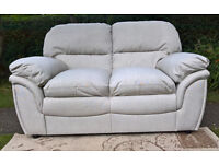 A New Rochester 2 Seater Oatmeal Fabric Material Sofa