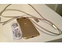 6th Generation 64gb ipod, as new, rose gold , no box with charger and earphones