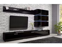 LIVING ROOM ERGO SET, OFFER, HIGH GLOSS, HIGH QUALITY, MODERN, LED LIGHTS, HOME DELIVERY AVAILABLE!