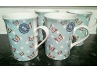 Set of 4 mugs, NEW