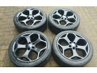 GENUINE 18 FORD FOCUS ST225 ALLOY WHEELS 6MM TYRES TRANSIT CONNECT MONDEO