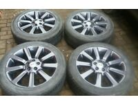 "GENUINE 20"" RANGEROVER SPORT AUTOBIOGRAPHY VOGUE ALLOY WHEELS VW T5 T6 REFURBED"