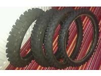 Motocross tyres 85 cc big wheel . Ktm cr yz rm kx