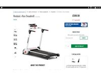 Reebok I Run treadmill , 8 month old , cost £599.99 , bargain sale £250.00. Slide pics left to view