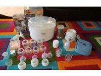 Tommee Tippee bottles, steriliser, bottle warmer and lot more 50x items