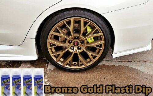 Plasti Dip Bronze Gold 4 Pack Wheel Kit Spray 11oz Aerosol Cans