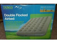New! Double flocked air bed