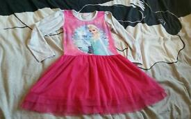 Disney frozen girls dress clothes fashion