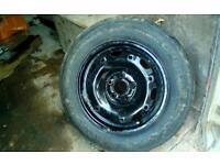 1 r14 5 stud car vw steel wheel - gd 165-70 tyre