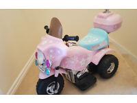Like New Rechargeable battery Princess Stardom Ride-on Electric Bike Trike Pink 6V