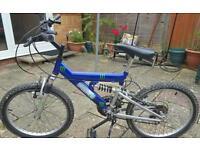 Monster energy boys suspension bike