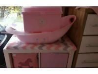 Brand new little lane baby bath with all accessories and brand new matching baby bath box